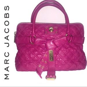 Marc Jacobs Bruna Quilted Leather Tote Satchel Bag